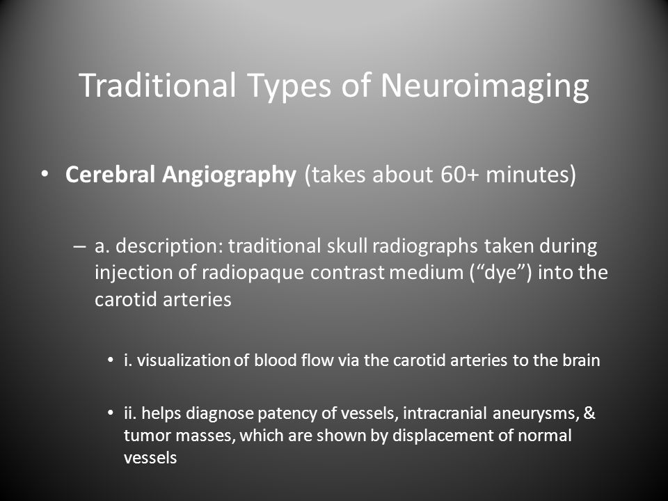 Traditional Types of Neuroimaging