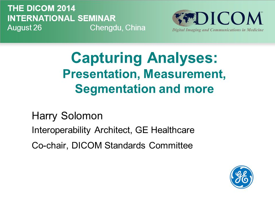 Capturing Analyses: Presentation, Measurement, Segmentation and more