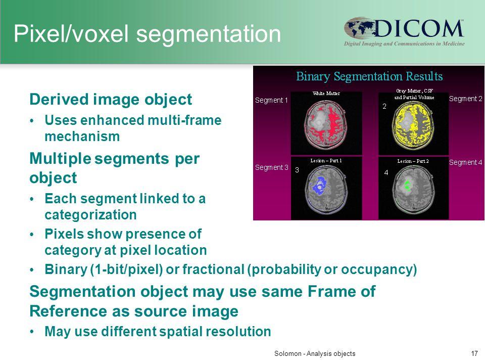 Pixel/voxel segmentation