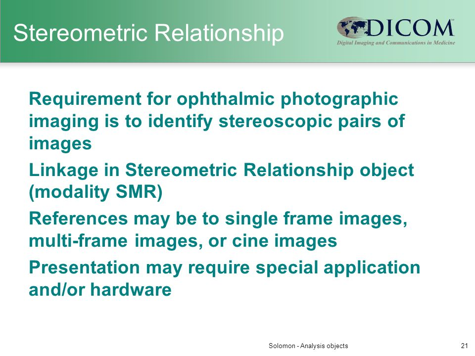 Stereometric Relationship