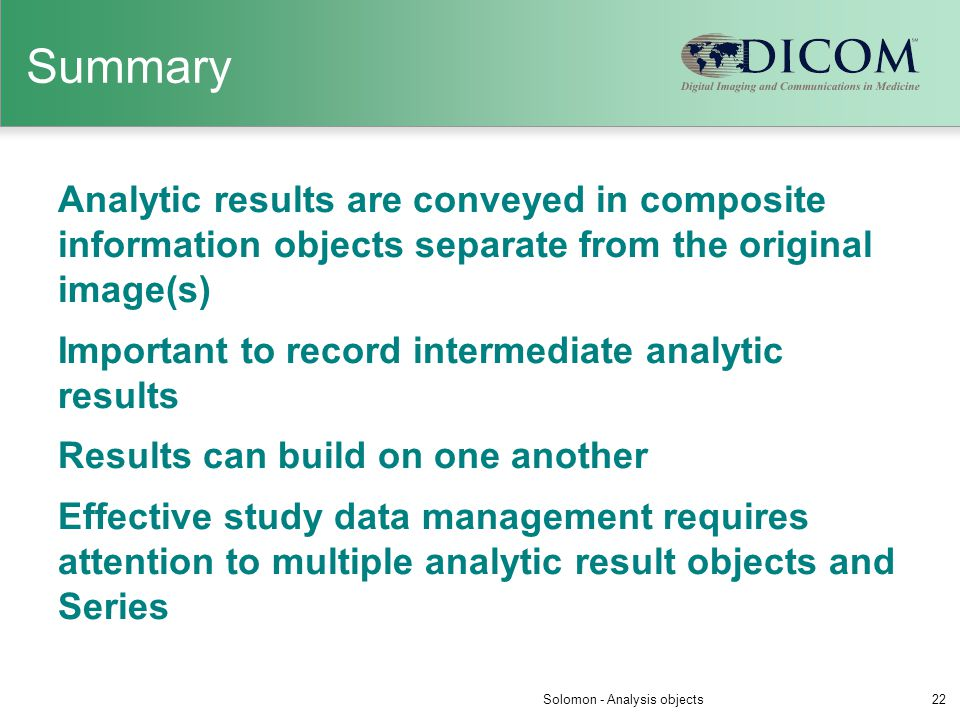 Solomon - Analysis objects