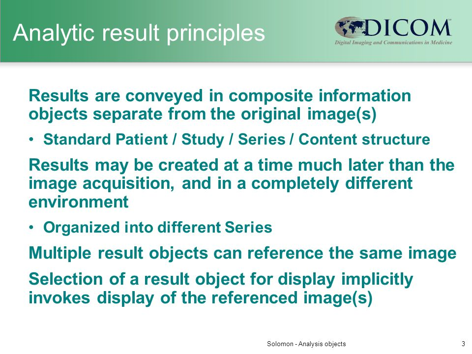 Analytic result principles