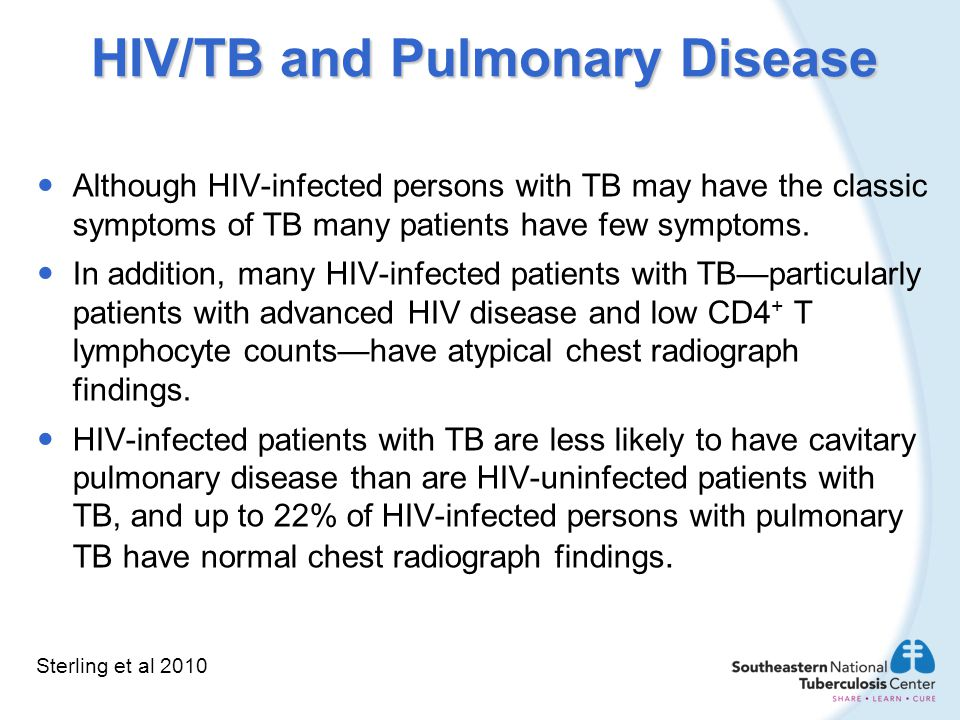 HIV/TB and Pulmonary Disease