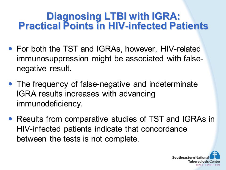 Diagnosing LTBI with IGRA: Practical Points in HIV-infected Patients