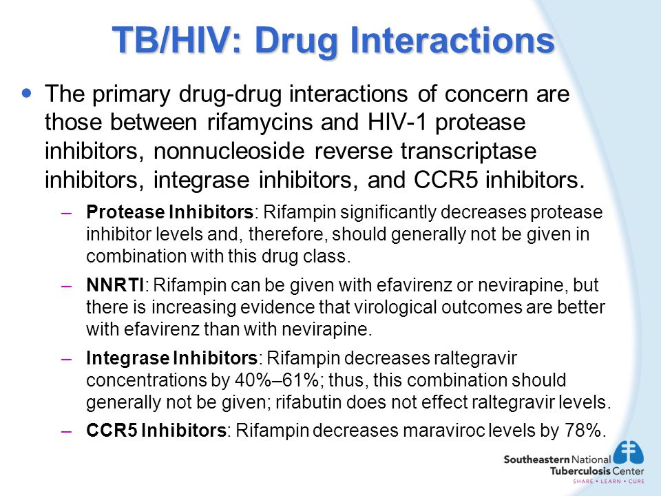 TB/HIV: Drug Interactions