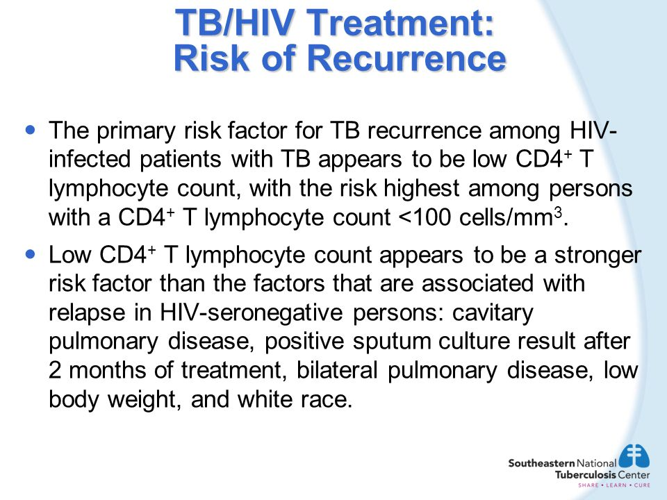 TB/HIV Treatment: Risk of Recurrence