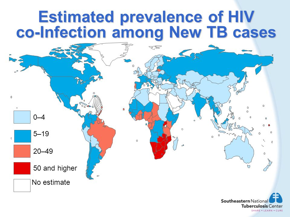 Estimated prevalence of HIV co-Infection among New TB cases
