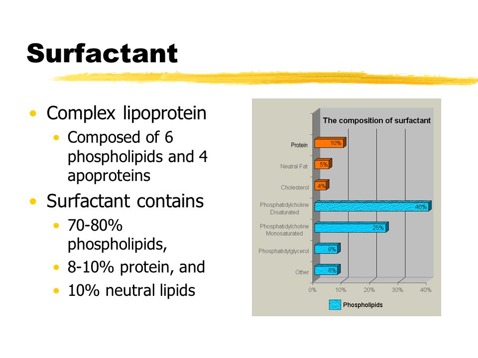 Surfactant Complex lipoprotein Surfactant contains