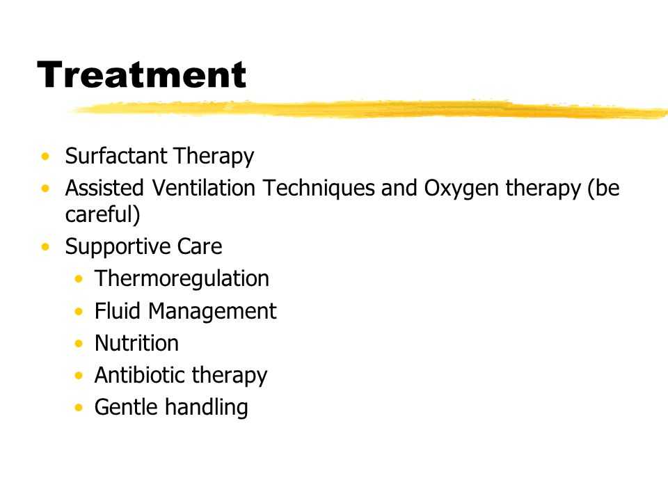 Treatment Surfactant Therapy