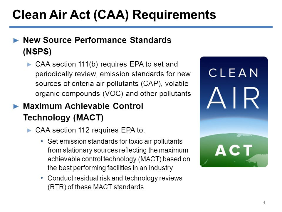 Clean Air Act (CAA) Requirements