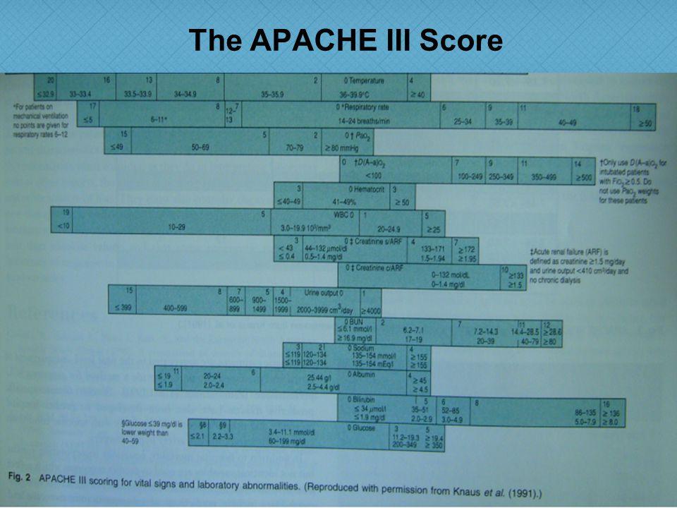 The APACHE III Score