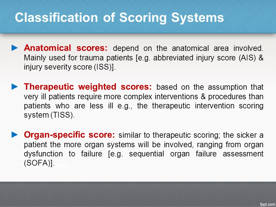 Classification of Scoring Systems