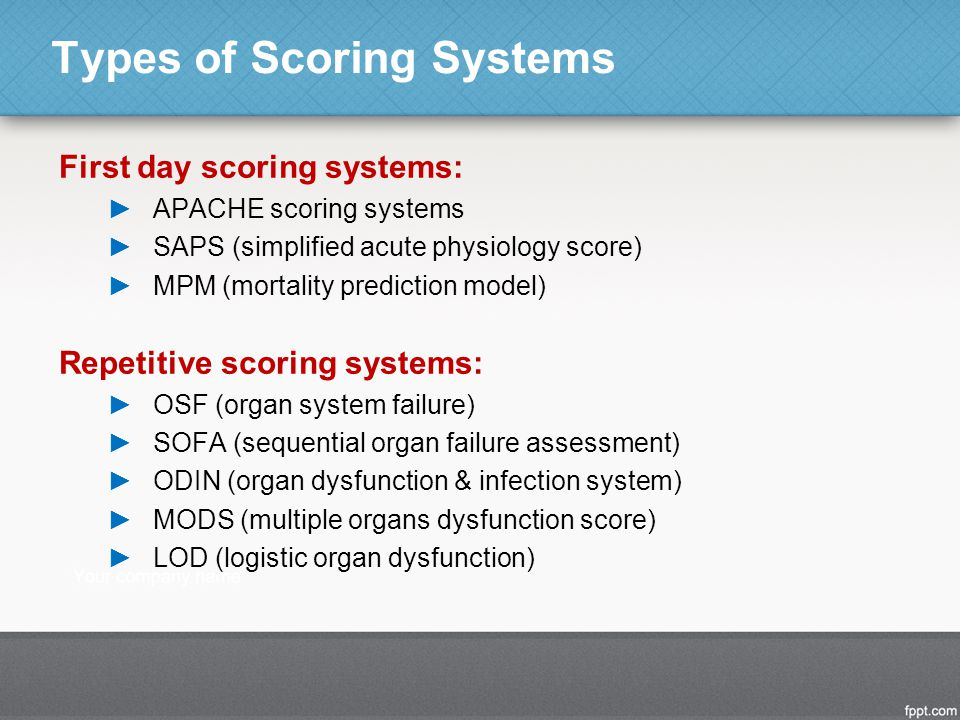 Types of Scoring Systems