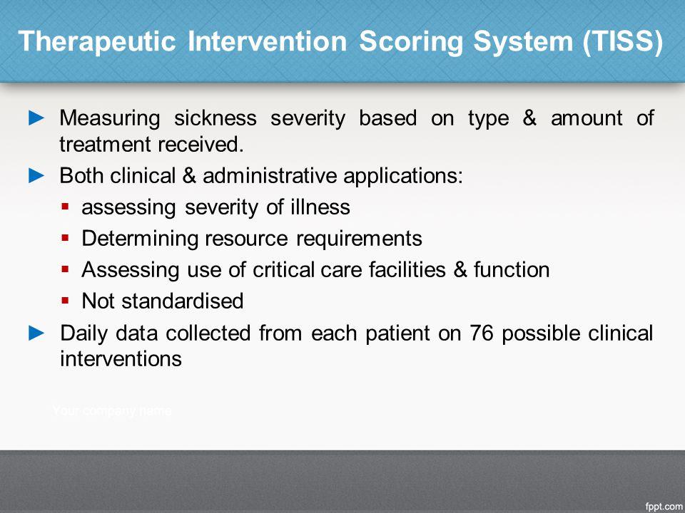 Therapeutic Intervention Scoring System (TISS)