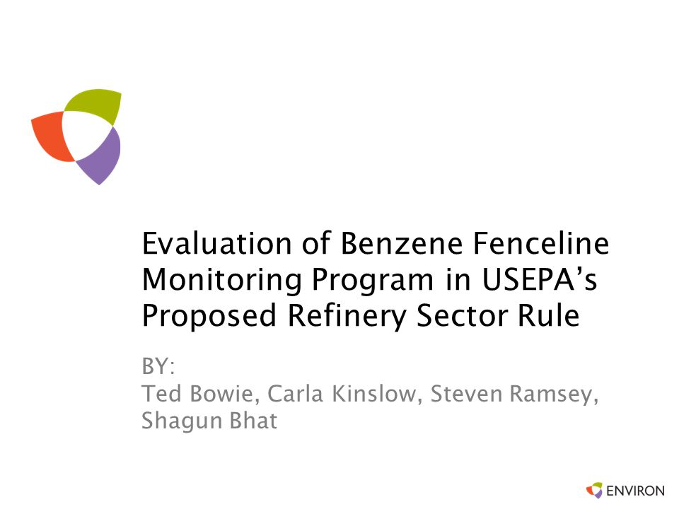 Evaluation of Benzene Fenceline Monitoring Program in USEPA's Proposed Refinery Sector Rule