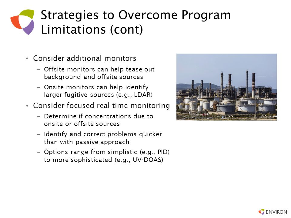 Strategies to Overcome Program Limitations (cont)