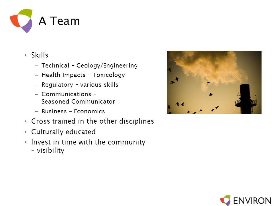 A Team Skills Cross trained in the other disciplines