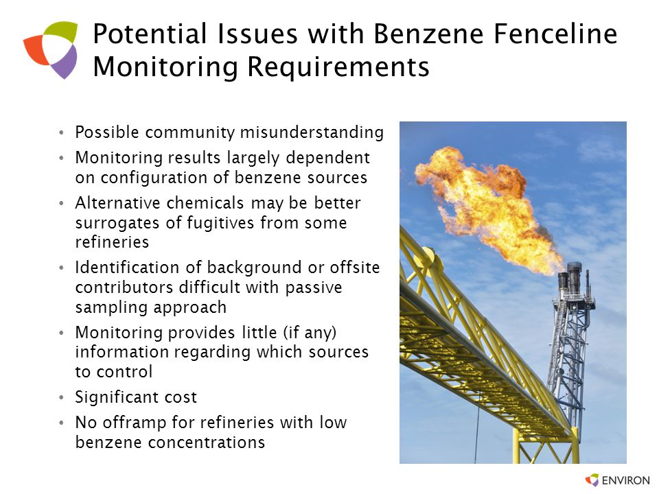 Potential Issues with Benzene Fenceline Monitoring Requirements