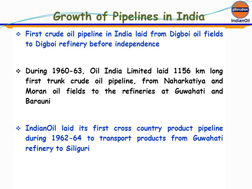 Growth of Pipelines in India