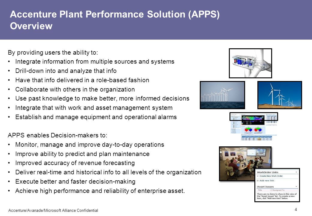 Accenture Plant Performance Solution (APPS) Overview