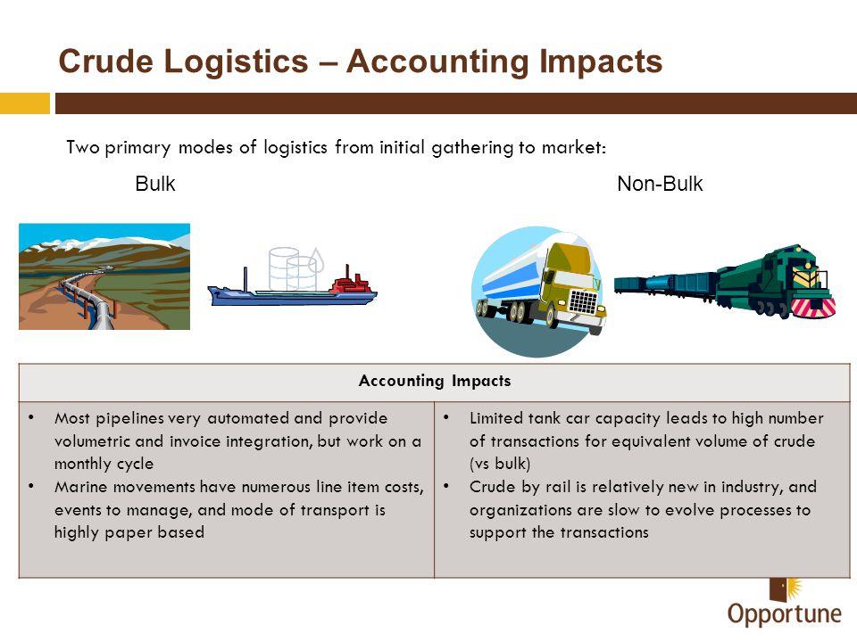 Crude Logistics – Accounting Impacts