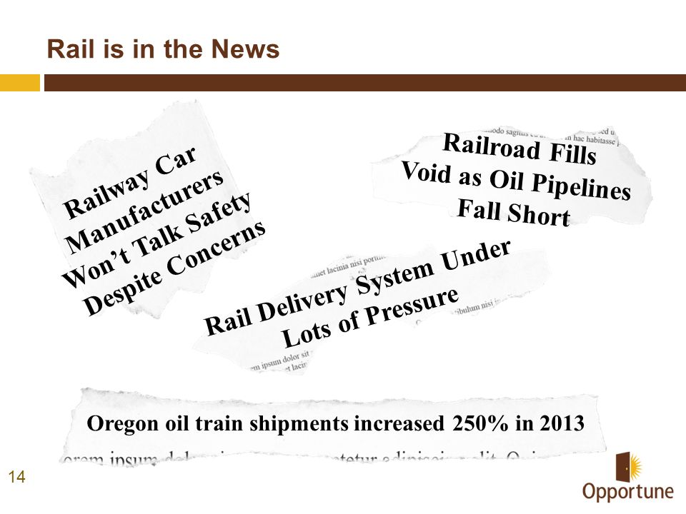Rail Delivery System Under Lots of Pressure