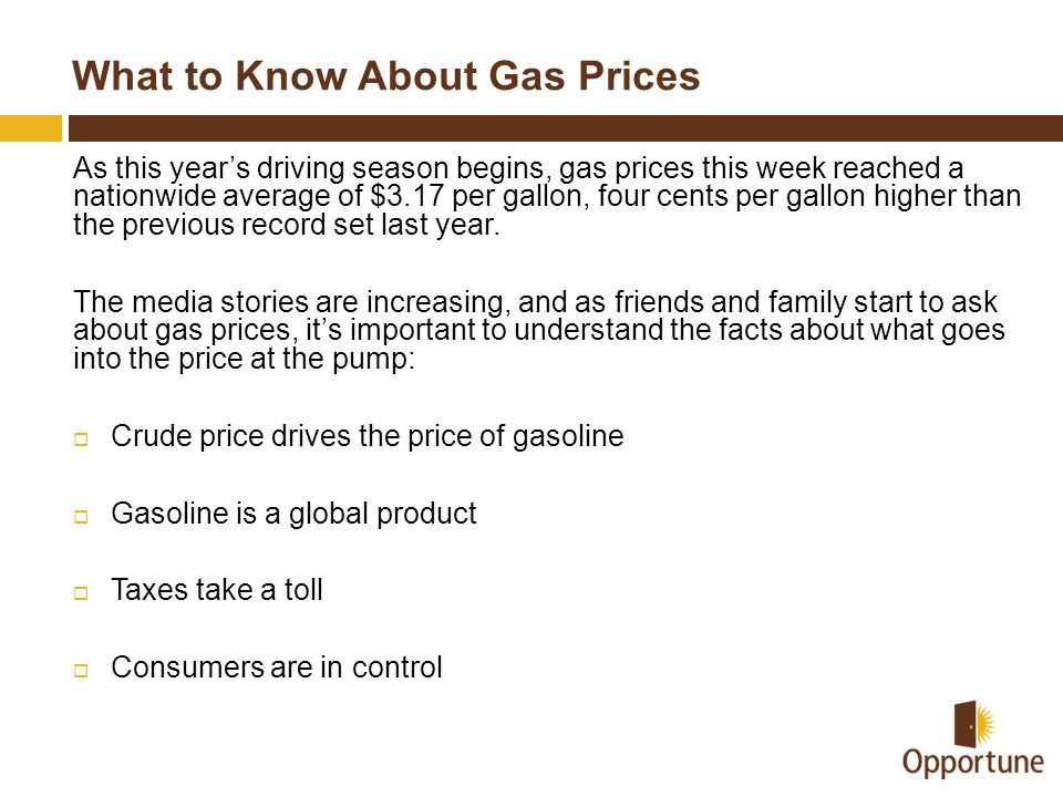 What to Know About Gas Prices
