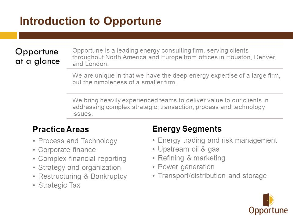 Introduction to Opportune