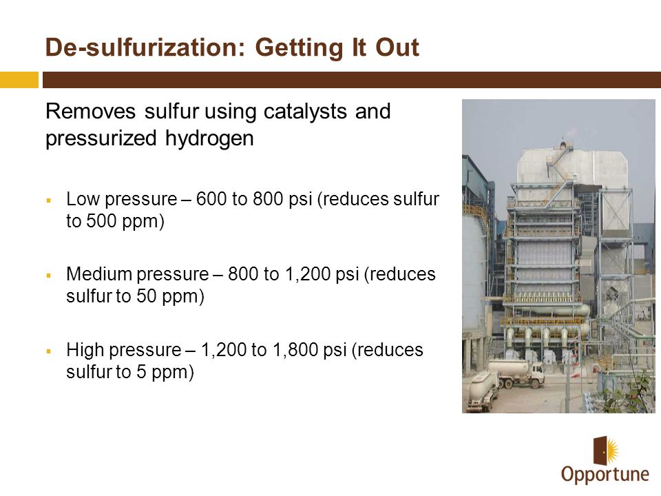 De-sulfurization: Getting It Out