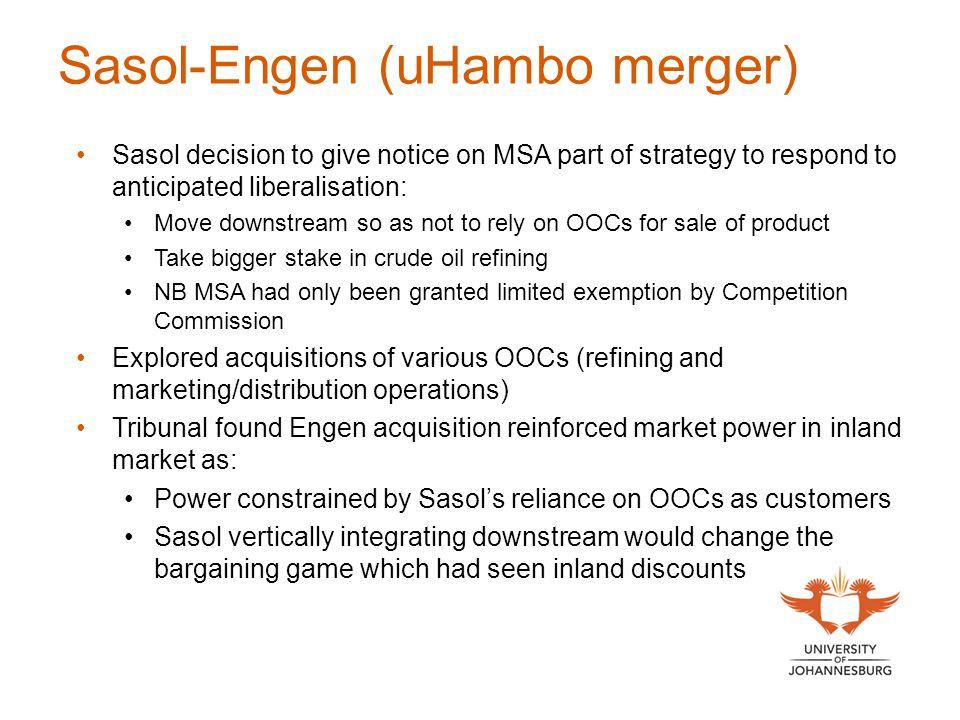 Sasol-Engen (uHambo merger)