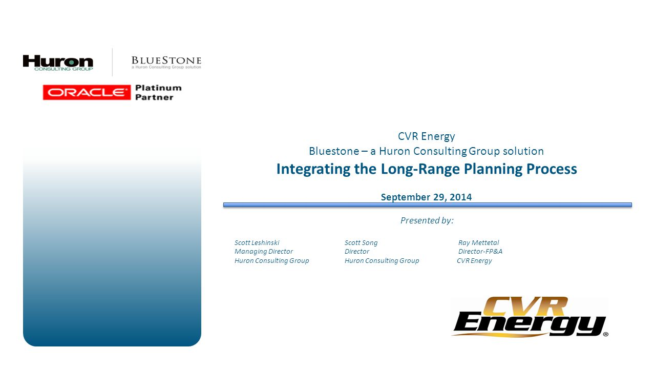 Integrating the Long-Range Planning Process