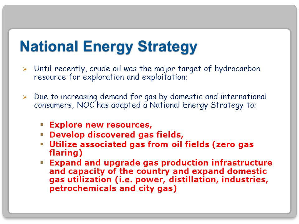 National Energy Strategy