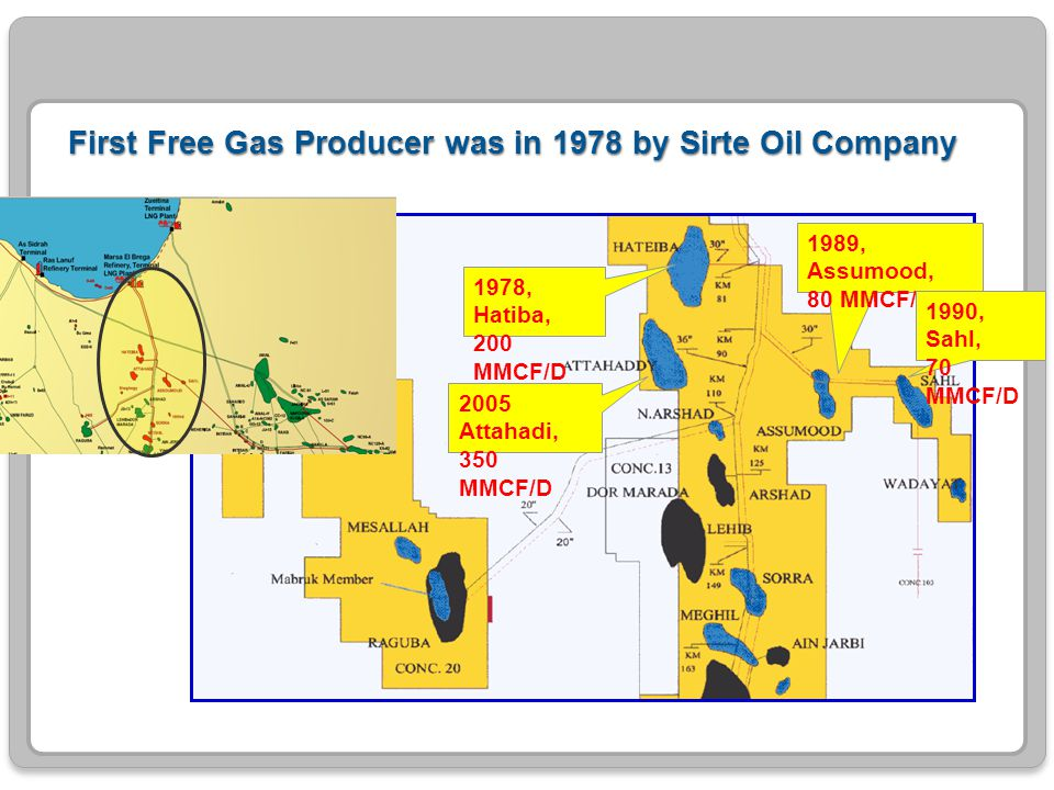 First Free Gas Producer was in 1978 by Sirte Oil Company