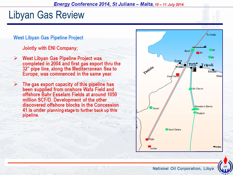 Libyan Gas Review West Libyan Gas Pipeline Project