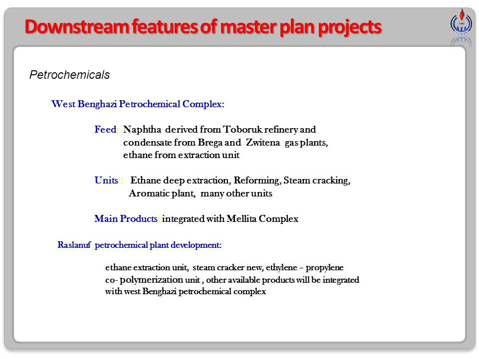 Downstream features of master plan projects