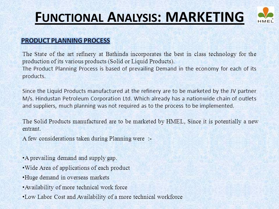 Functional Analysis: MARKETING