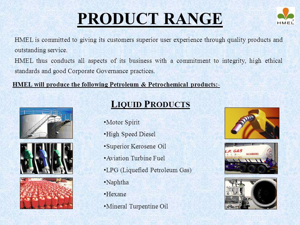PRODUCT RANGE Liquid Products
