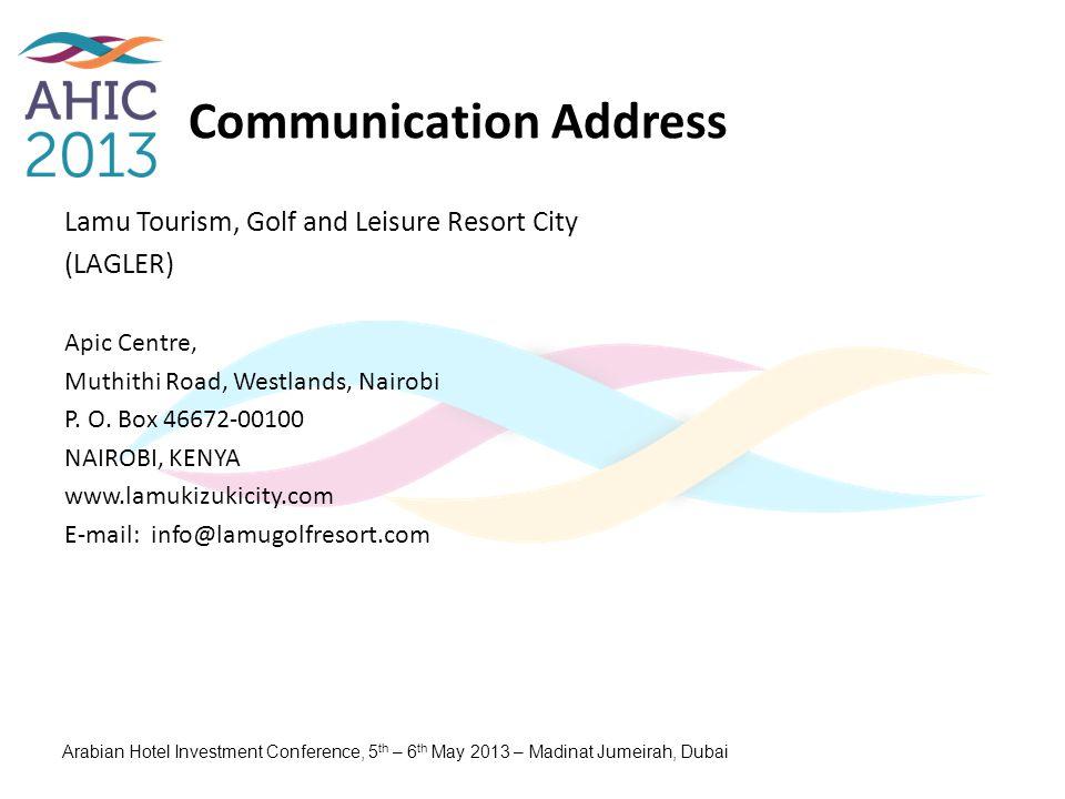 Communication Address