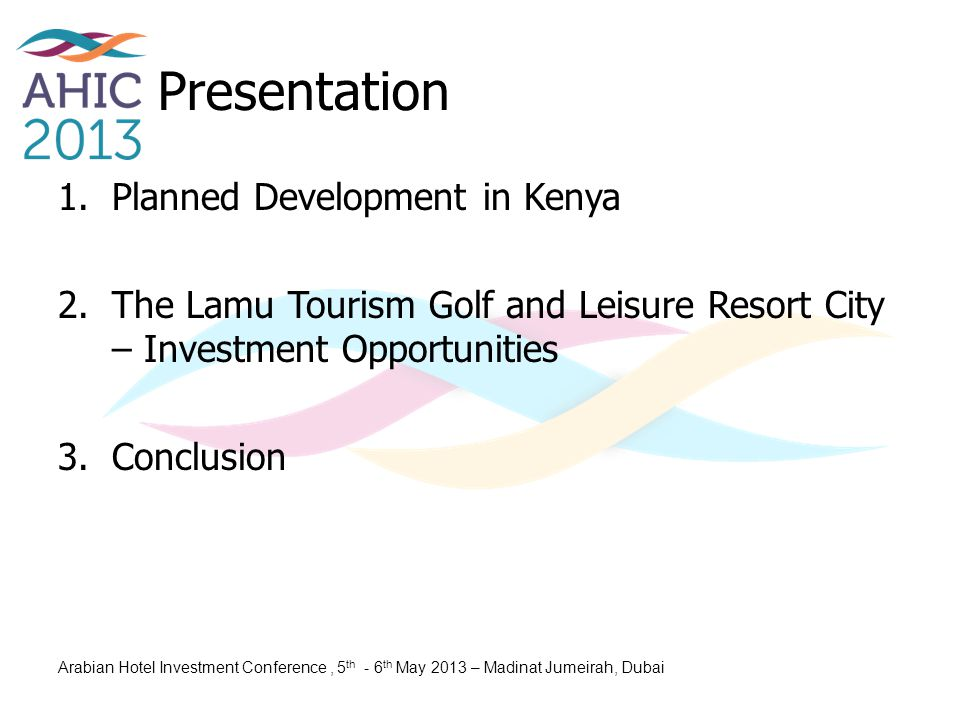 Presentation Planned Development in Kenya