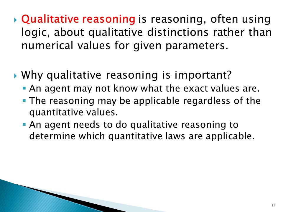 Why qualitative reasoning is important