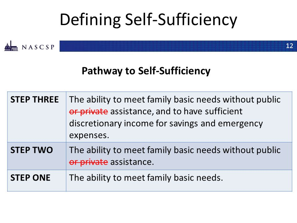 Defining Self-Sufficiency
