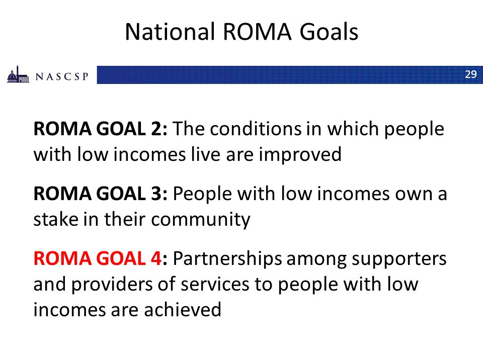 National ROMA Goals