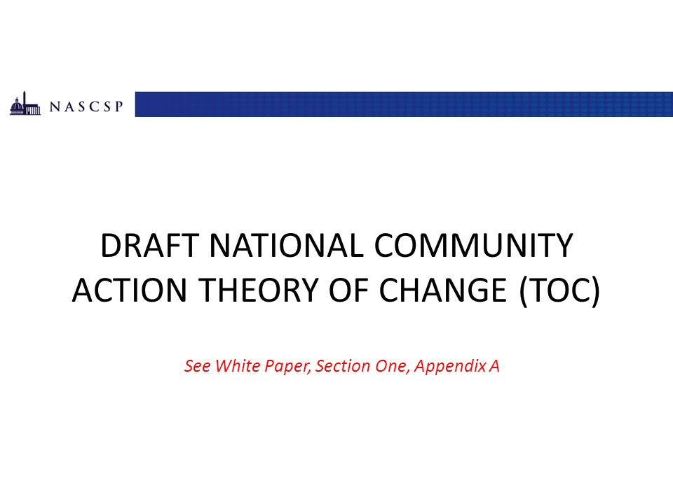 DRAFT National Community action theory of change (toc)