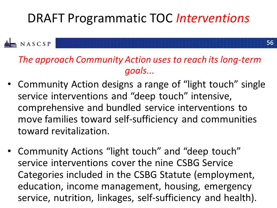 DRAFT Programmatic TOC Interventions