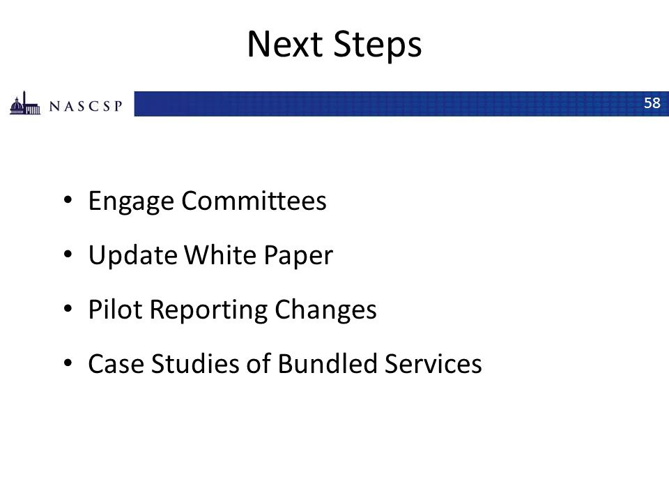 Next Steps Engage Committees Update White Paper