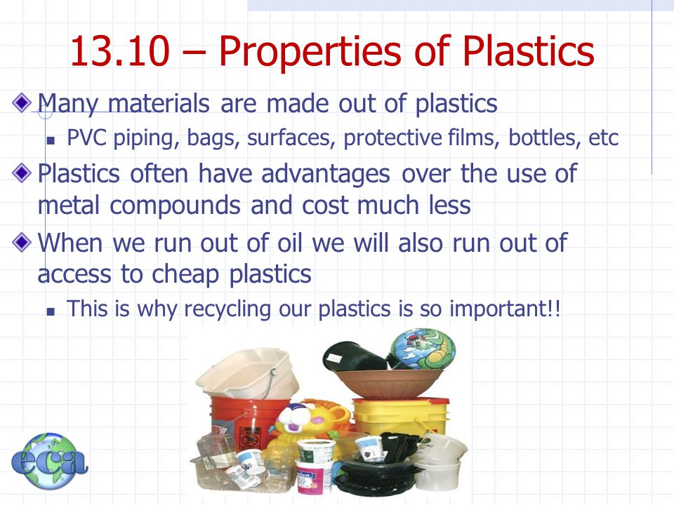 13.10 – Properties of Plastics