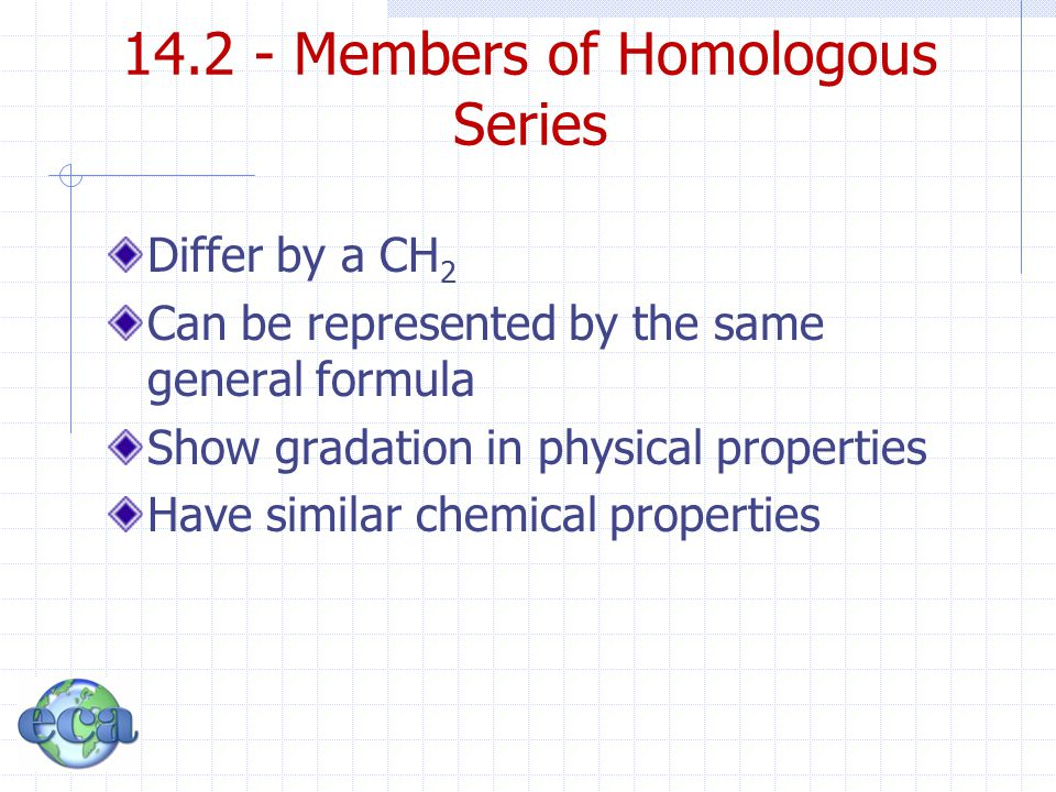 14.2 - Members of Homologous Series