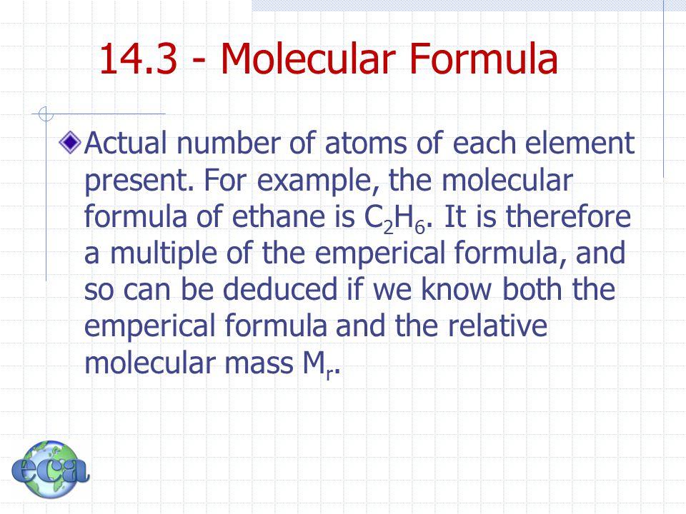 14.3 - Molecular Formula
