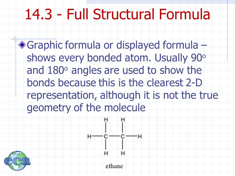 14.3 - Full Structural Formula