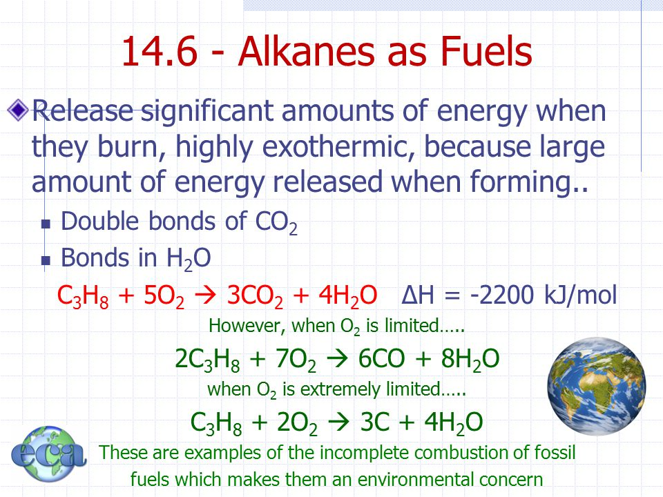 14.6 - Alkanes as Fuels